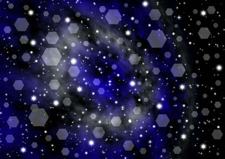 Abstraction starry background for various design artworks.  photo