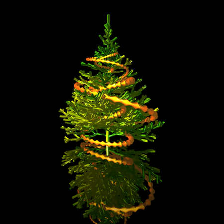 christmastree:  Christmas-tree. 3D graphic