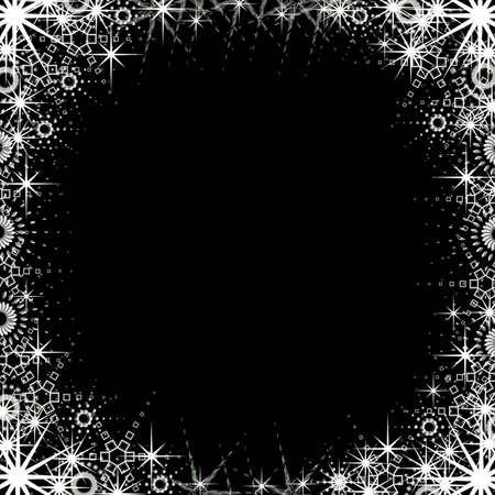 sillhouette: Christmas black frame Stock Photo