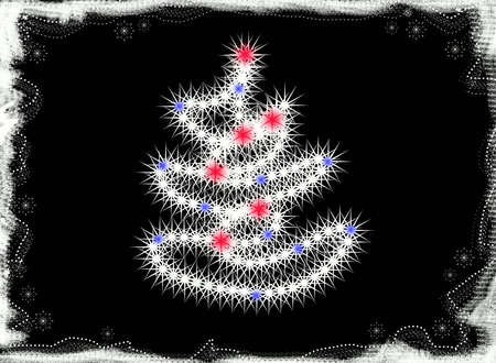 illustrates:  Christmas-tree. Card Stock Photo