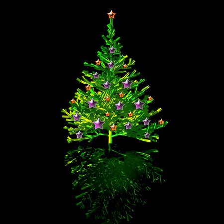 Christmas-tree. 3D graphic photo