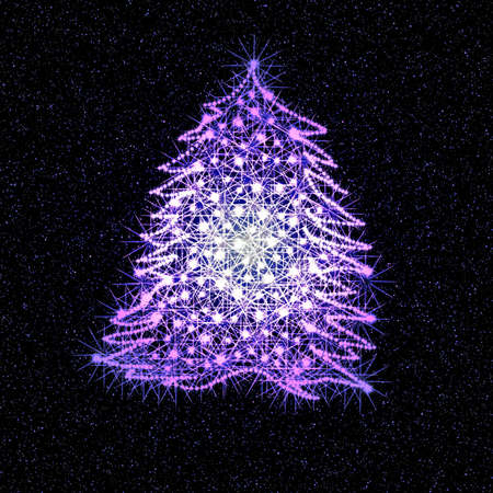 Christmas fantasy tree Stock Photo - 2190002