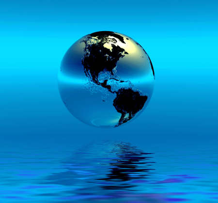 heaven on earth: Planet Earth Stock Photo