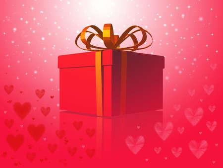 Magiacal love Present Stock Photo - 2432914