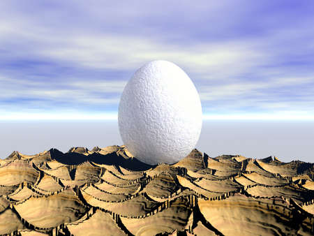 One egg. 3D graphics Stock Photo - 2554263