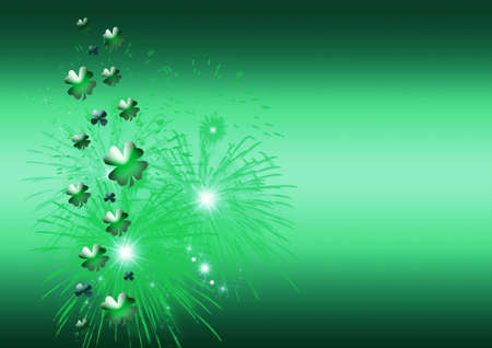 Abstract on theme holiday St.Patrick Stock Photo - 2615172