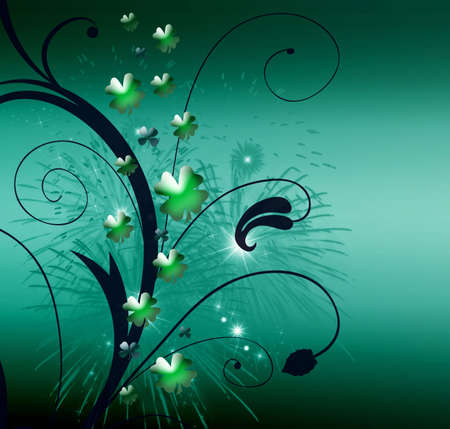 Abstract on theme holiday St.Patrick Stock Photo - 2615170