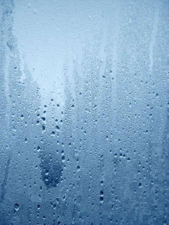 soggy: Water drops on wet window
