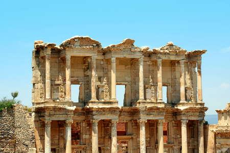 antyk: Starożytności greckie miasto Efez. Stara Biblioteka Zdjęcie Seryjne