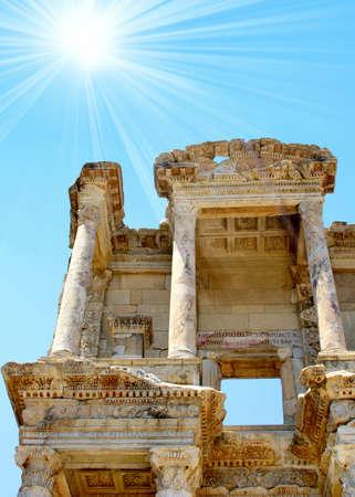 antyk: Starożytności greckie miasto Efez. Biblioteka