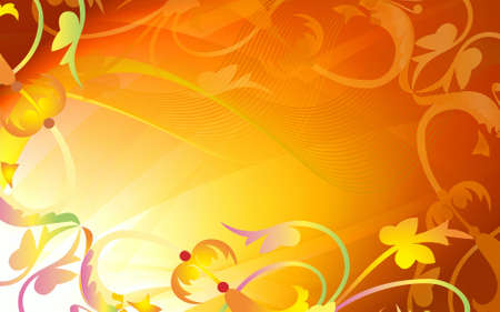abstraction: Abstraction golden floral frame   Stock Photo
