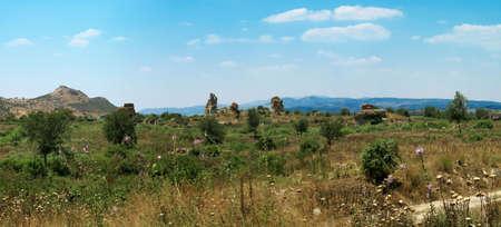 antyk: Starożytności miasto grecki-Ephesus. Panorama