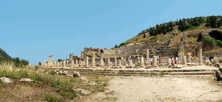 antyk: Staro?ytno?ci greckie miasta - Efez. Panorama Zdjęcie Seryjne
