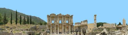 antyk: Starożytności greckie miasta - Efez. bibliotece. Panoramiczny sceny
