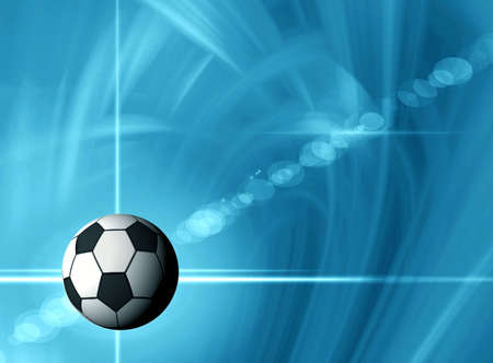 Football.   Space abstract photo