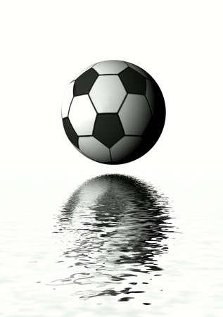 Football. 3D graphics Stock Photo - 3071584