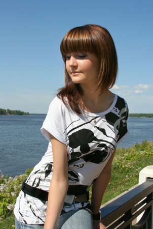 Pretty young Russian model Stock Photo - 3130555
