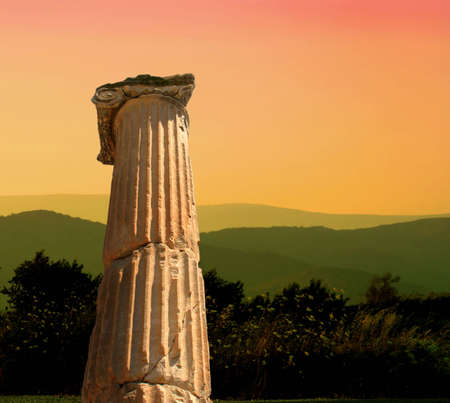 antiquity: Sunset in antiquity greece Stock Photo