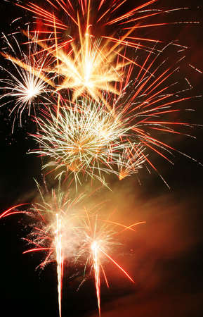 Celebratory firework in sky Stock Photo - 3270554