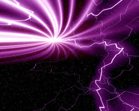 Abstraction background  with lightning photo