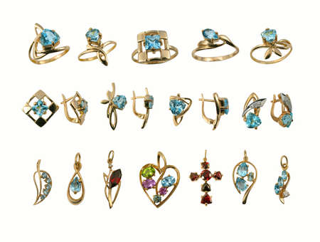 jewelle: Variety stylish golden jewelry with gems