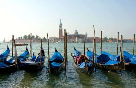 Venice. Morning. Grande canal. Gondolas Stock Photo - 3555460