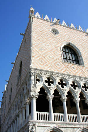 palazzo: Italy. Venetian architecture.  Palazzo ducale Stock Photo