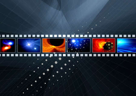 Abstraction background with film  for various design artworks photo