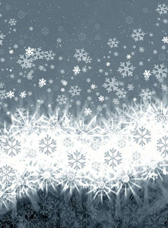 Frosty abstraction background with snowflakes Stock Photo - 3827117