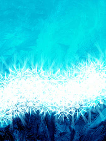 Frosty abstraction background with snowflakes Stock Photo - 3827118