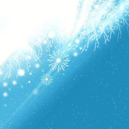 Frosty abstraction background with snowflakes Stock Photo - 3827106