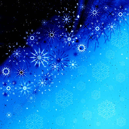 Frosty abstraction background with snowflakes Stock Photo - 3827111