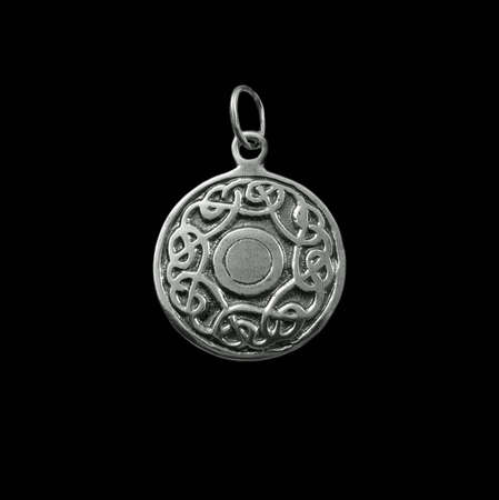 Silver jewelry on black background Stock Photo - 3883073