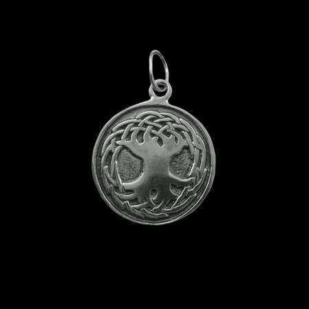 Silver jewelry on black background Stock Photo - 3883074