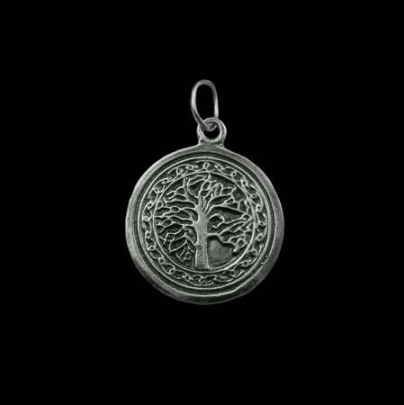 Silver jewelry on black background Stock Photo - 3883084