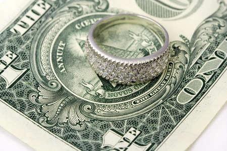 jewelle: Jewelry and  dollars Stock Photo