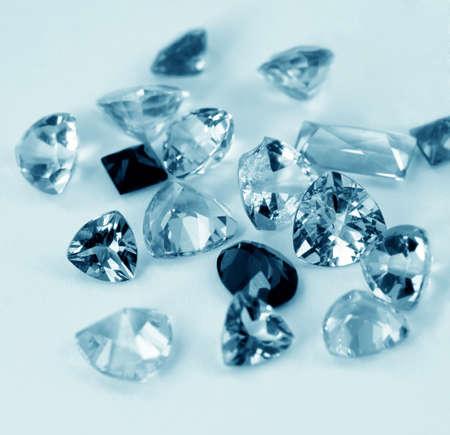 resplendence: Jewelry gems in blue duotone Stock Photo