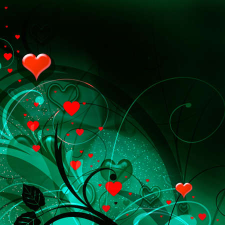 Valentines background with hearts Stock Photo - 4122511