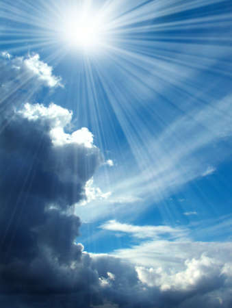 beautiful heaven: Blue skies and rays of sun