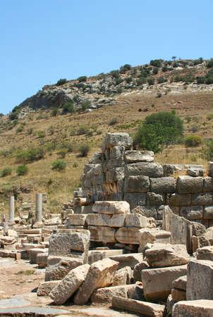 antiquity: Antiquity greek city - Ephesus. Stock Photo