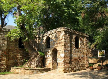 believed: Virgin Marys House (believed to be the last residence of Mary, mother of Jesus). Ephesus Stock Photo