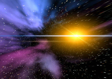 Abstraction spacy background for design. mistical light Stock Photo - 4819310