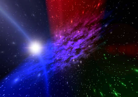 Abstraction spacy background for design. mistical light