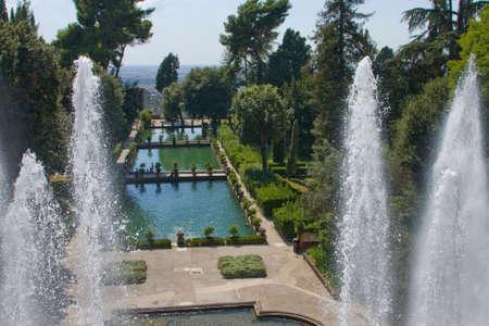 d: Travel. City of Italy.Tivoli. Villa d Este