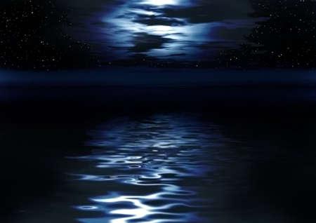 Night picture. Abstraction illustration for design artworks illustration