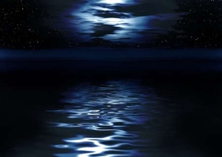 moonlight: Night picture. Abstraction illustration for design artworks