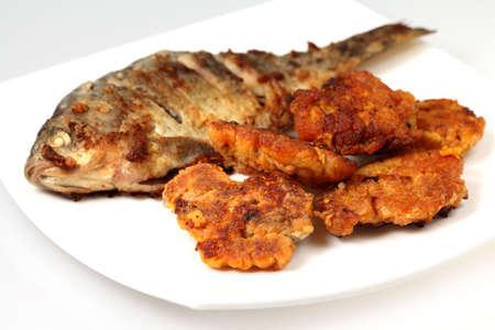 crucian: Crucian (carp)  and roasted roe