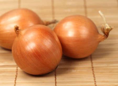 Serviette: Cebolla grande en la servilleta de madera