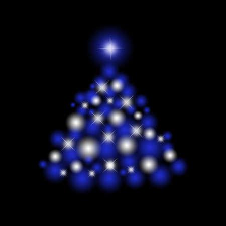 Christmas tree for celebratory design artwork photo