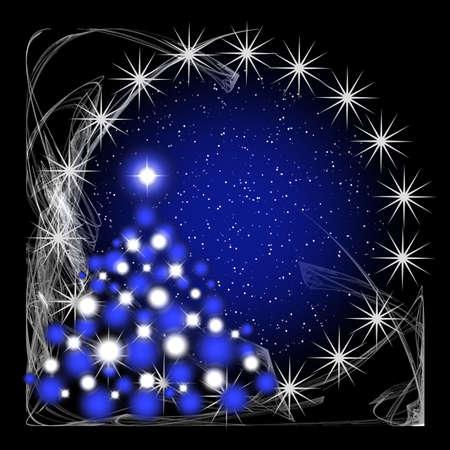 celebratory: Christmas tree for celebratory design artwork Stock Photo